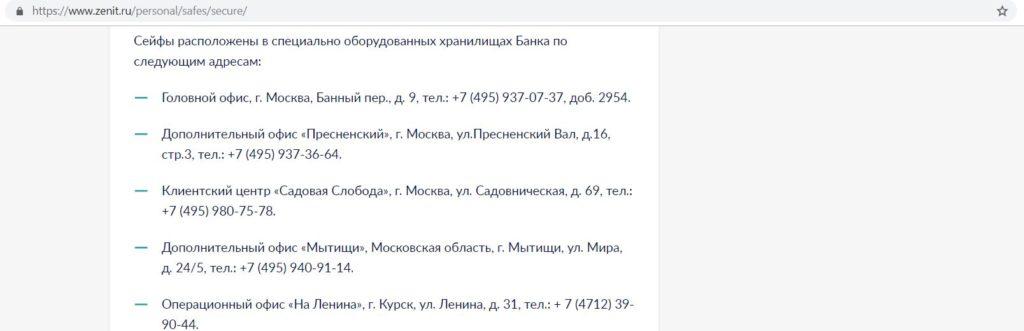 Карты банка Зенит