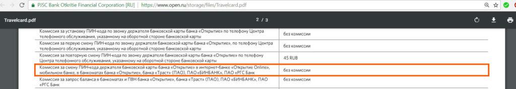 Travel в пакете Оптимальный от Открытия