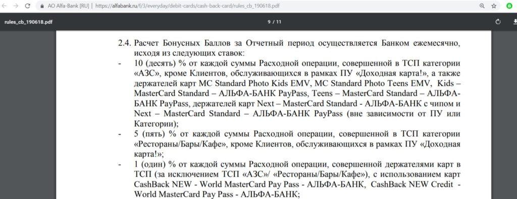 CashBack от Альфа-Банка